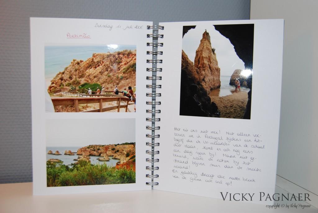 Pagina uit het foto-album van de reis naar Albufeira
