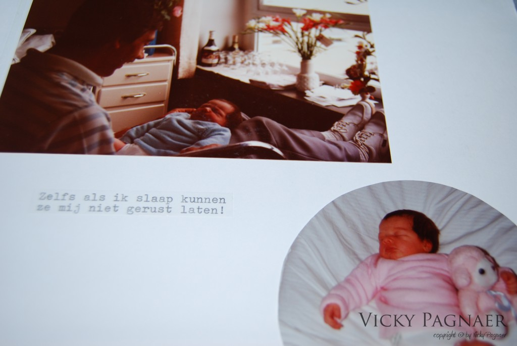 Stukje uit mijn baby-album met cropping & tekst
